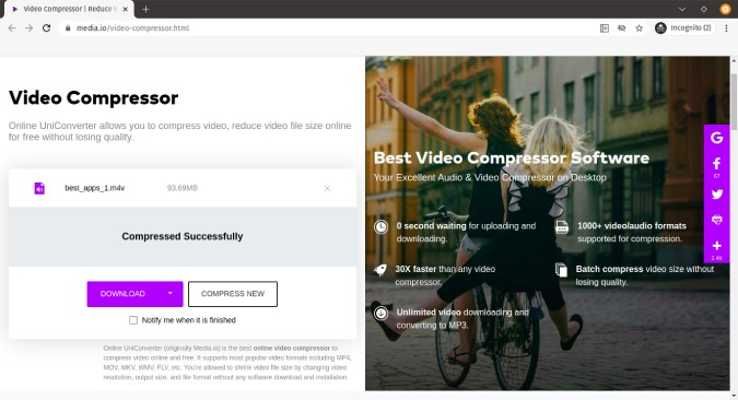 media-io-online-unlimited-video-compression